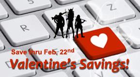 Valentine's Savings!